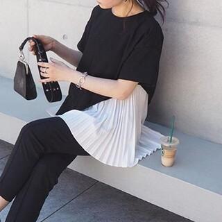 ZARA - アシメプリーツ Tシャツ