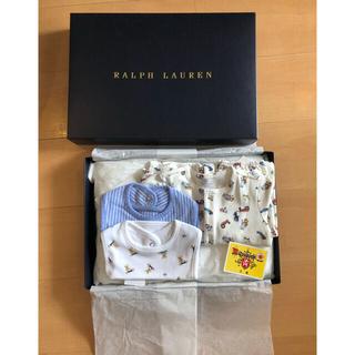 Ralph Lauren - 新品!ラルフローレン 長袖カバーオール スタイ セット 箱あり