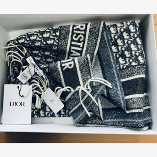 Christian Dior - ディオールオブリークカシミアショール