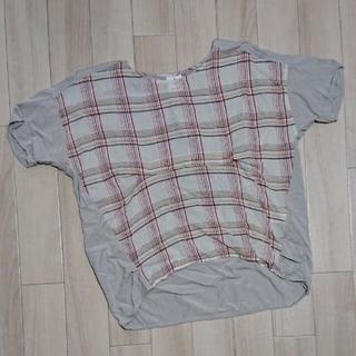 ニコアンド(niko and...)のUSED/ニコアンド…チェックアシメTシャツ(Tシャツ(半袖/袖なし))