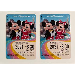 ディズニー(Disney)の ディズニーリゾートライン 1日乗り放題 子ども2枚(鉄道乗車券)