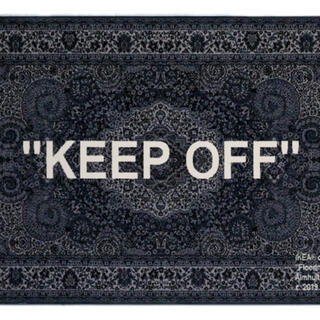 """OFF-WHITE - IKEA×VIRGIL ABLOH/OFF-WHITE """"KEEP OFF""""ラグ"""