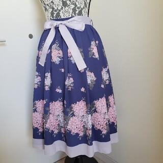 axes femme - あじさい 柄 スカート