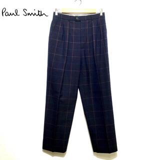 ポールスミス(Paul Smith)の美品 ポールスミス マルチカラー ブロックチェック ウール パンツ(スラックス)