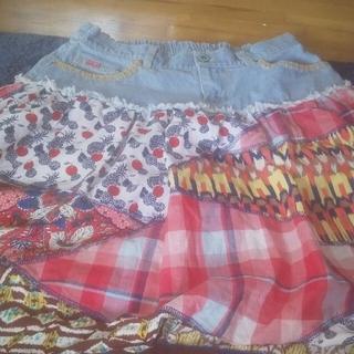 チチカカ(titicaca)のデニムスカート(ひざ丈スカート)