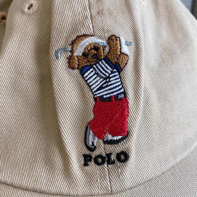POLO RALPH LAUREN(ポロラルフローレン)の◆新品未使用 POLO ポロ ラルフローン キャップ メンズ ポロベア ベージュ メンズの帽子(キャップ)の商品写真