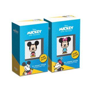 ディズニー(Disney)の2021 ニウエ ミッキーマウス & ミニーマウス型 プルーフカラー銀貨セット(貨幣)