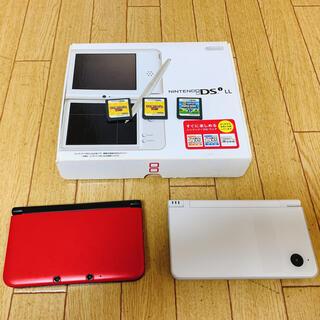 ニンテンドー3DS(ニンテンドー3DS)の【2台セット】ニンテンドーDS LL/3DS LL 本体 ※一部破損あり(携帯用ゲーム機本体)