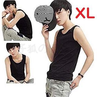 XLサイズ 黒 タンクトップ 胸つぶしシャツ 胸潰し ナベシャツ(タンクトップ)