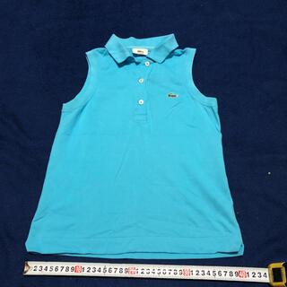 ラコステ(LACOSTE)のLACOSTE ポロシャツ  ノースリーブ 水色 150(Tシャツ/カットソー)