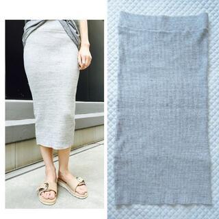 アパルトモンドゥーズィエムクラス(L'Appartement DEUXIEME CLASSE)の美品3万2千円 ジェームスパース リブタイトスカート 2 ドゥーズィエムクラス(ロングスカート)
