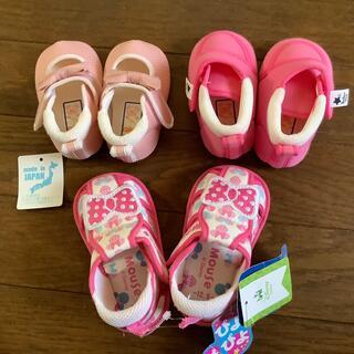 ディズニー(Disney)のベビー 靴 サンダル 3サイズセット 女児 ピンク系(靴下/タイツ)