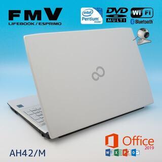 富士通 - Office2019/薄型/富士通ノートパソコン/新品SSD256GB/カメラ付