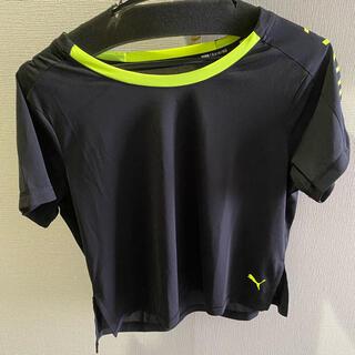 PUMA - PUMA プーマ トレーニング 即乾 メッシュ tシャツ 黒 ネオン