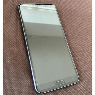 アクオス(AQUOS)の新品 AQUOS sense2 SHV43 au 本体 ブラック スマホ(スマートフォン本体)