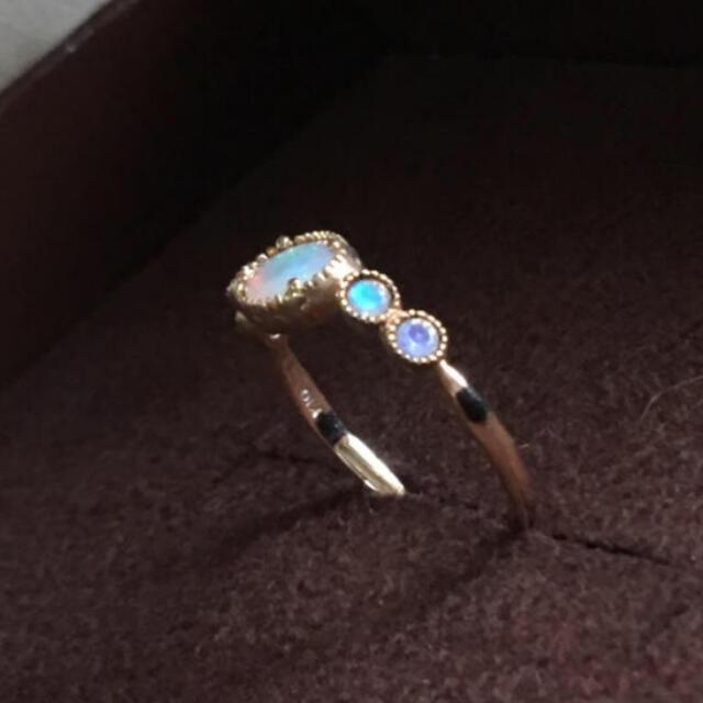 agete(アガット)のクロチェ オパール リング 10.5号 レディースのアクセサリー(リング(指輪))の商品写真
