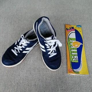 【新品中敷付き】 Bonny スニーカー 運動靴 男女兼用 校内履き 青色(その他)