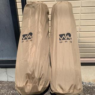 スノーピーク(Snow Peak)のWAQ インフレータブルマット 8cm タンカラー 2セット(寝袋/寝具)