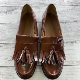 新品 ローファー ブラウン オシャレ 履きやすい レディース スーツ(ローファー/革靴)