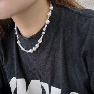hand made beads necklace pearl design(ネックレス)
