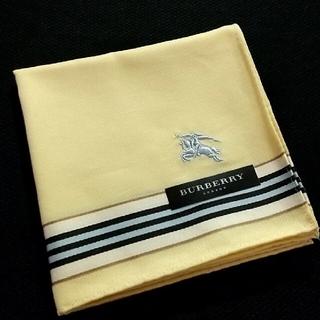 BURBERRY - バーバリー ハンカチ 刺繍