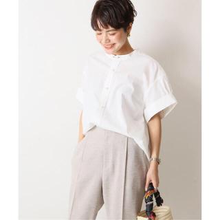 Spick and Span - Spick & Span パールボタンタックスリーブシャツ◆