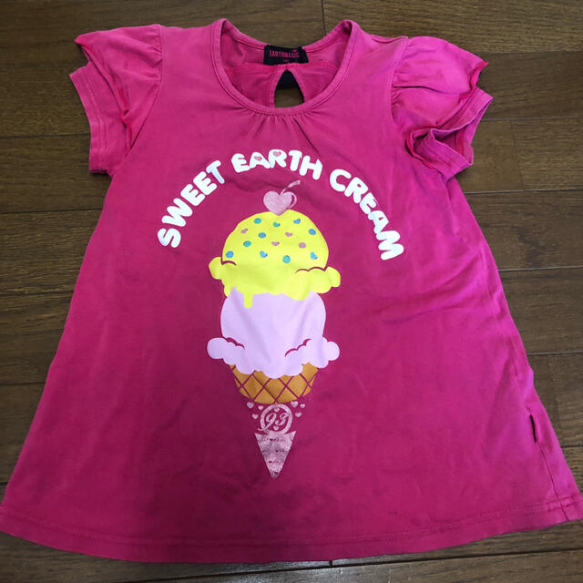 EARTHMAGIC(アースマジック)のアースマジック Tシャツ 140 キッズ/ベビー/マタニティのキッズ服女の子用(90cm~)(Tシャツ/カットソー)の商品写真