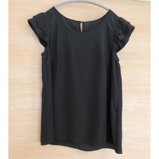 エムプルミエ(M-premier)のMpremier ノースリーブブラウス ブラック 36サイズ(シャツ/ブラウス(半袖/袖なし))