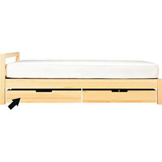 MUJI (無印良品) - 無印良品 パイン材シングルベッド 収納 マットレス