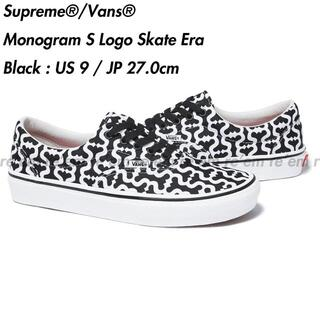 Supreme - Vans Monogram S Logo Skate Era Black US9