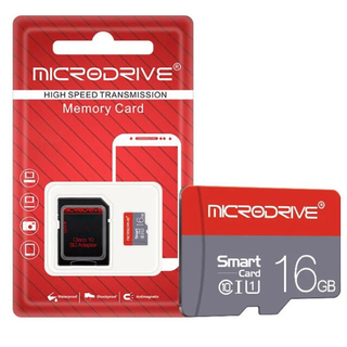 microSD マイクロ SDカード 16GB class10+SD変換付1枚