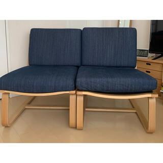 ムジルシリョウヒン(MUJI (無印良品))の無印良品 リビングでもダイニングでも使えるソファ(二人掛けソファ)