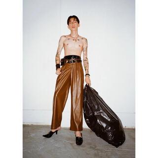 マルタンマルジェラ(Maison Martin Margiela)のJOHN wide leg vegan leather trousers(その他)