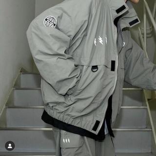 HARE - ペルーシュ ナイロンジャケット ミリタリー ブルゾン 古着 韓国