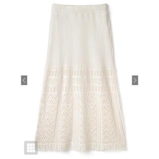 GRL - グレイル GRL ペチコート付き透かし編みニットスカート