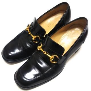 グッチ(Gucci)の美品  GUCCI   37,5C   ホースビットローファー  レザー(ローファー/革靴)