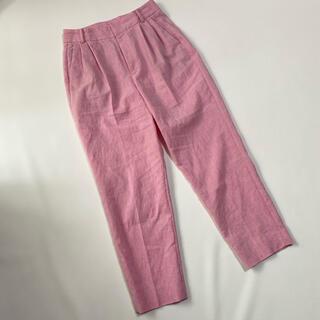 ユナイテッドアローズ(UNITED ARROWS)のユナイテッドアローズ リネン混 パンツ 38 ピンク(カジュアルパンツ)
