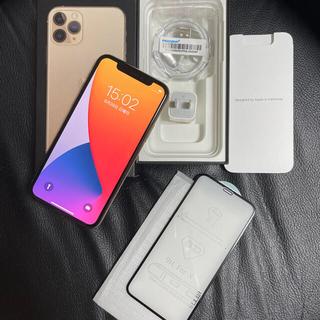 アイフォーン(iPhone)の白ロムiPhone11Pro 256GB SIMフリー中古美品 ゴールド(スマートフォン本体)