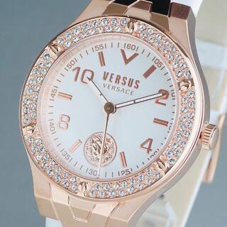 VERSACE - 【新品・正規品】ヴェルサス ヴェルサーチ 高級 レディース腕時計 スワロフスキー