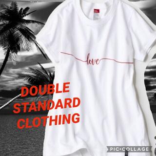DOUBLE STANDARD CLOTHING - DOUBLE STANDARD CLOTHING  DSC. LOVE Tシャツ