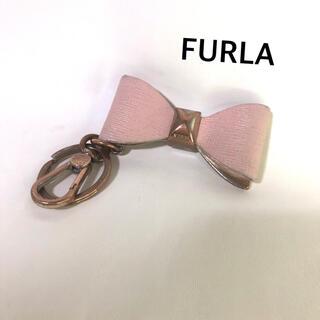 Furla - FURLA  ピンク リボン キーホルダー レザー チャーム