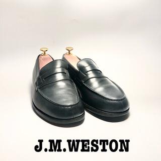 J.M. WESTON - J.M.WESTON 180 ペニーローファー 6E ネイビー