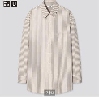 UNIQLO - ★貴重 ユニクロU2021 ワイドフィットストライプシャツボタンダウンカラー長袖