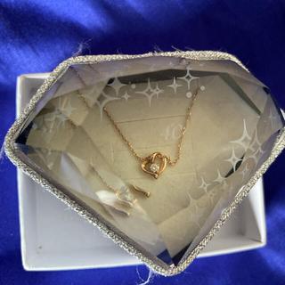 4℃ - お値下げ*4℃ ダイヤモンド K18ハートネックレス