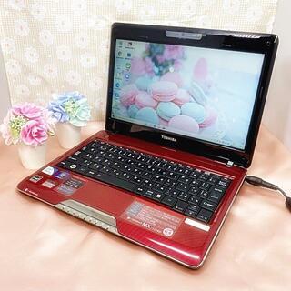 東芝 - 格安!【大人気⚘小型・軽量】艶レッド・テレワークに・可愛いミニノートパソコン