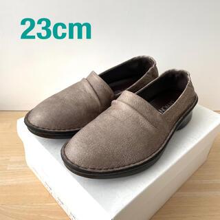 レザー フラットシューズ グレージュ(ローファー/革靴)