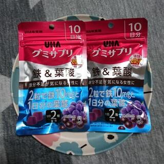 ユーハミカクトウ(UHA味覚糖)のUHA味覚糖/グミサプリ【鉄&葉酸】2袋(その他)