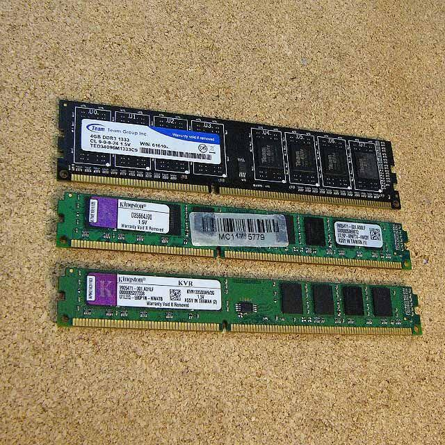 デスクトップ用PCメモリ  3枚 スマホ/家電/カメラのPC/タブレット(PCパーツ)の商品写真