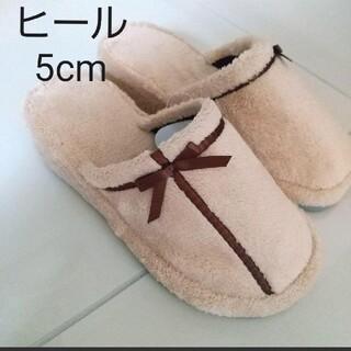 ミツコシ(三越)のヒールスリッパ ベージュ 22~24cmくらい(その他)