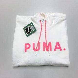 プーマ(PUMA)のPUMA プーマ 大人かわいい ワンピース フード付き ホワイト(ひざ丈ワンピース)
